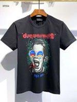 II T-shirt dos homens de luxo hip hop Impressão de manga curta T-shirt de verão Nova rodada de luxo masculino de algodão t-shirt Alta qualidade atacado