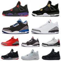 Högkvalitativa Mens Boots Skor 3 3s Tinker OG Sneakers Grateful QS Katrina Korea True Blue 4 4s Raptors Kvinnors Sport