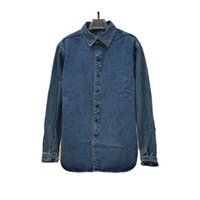 Designer men's jacket denim shirt 2021 ladies casual classic trend fashion heavy industry washed denims jackets high street coupless jacketss
