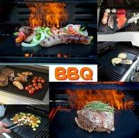 BBQ شواء حصيرة دائم غير عصا الشواء حصيرة 40 * 33 سنتيمتر صفائح الطبخ فرن الميكروويف أداة الطهي في الهواء الطلق