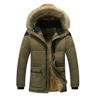 Winter Jacket Middle Age Fit For -25 Men Plus Thick Warm Coat Men's Casual Hooded Size 4xl 5xl1
