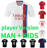 Maillot Lyon 4th 21 22 22 22 Lyonnais camisas de futebol Shaqiri boateng cherki ol digital quarto futebol camisa traore l.paquetá homens kit kit kits bruno g version