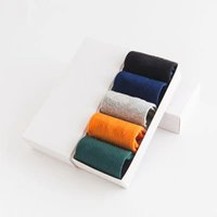 5PC BOX Mens Socks Women Men High Quality Cotton All-match Classic Ankle Hook Breathable Mixing Football Basketball Sport Stocking