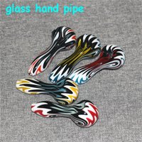 """4"""" glass pipes smoking bong heady colorful hand pipe bubbler dab rig silicone nectar collector"""