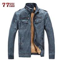 Giacche da uomo Qiqichen Brand Abbigliamento Abbigliamento militare Autunno inverno inverno caldo giacca a vento tattico giacca cappotto uomo lavato in ecopelle