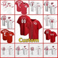 5 조니 벤치 사용자 정의 19 조이 votto reds 야구 14 피트 장미 11 Barry Larkin 30 Ken Griffey JR 17 Chris Sabo Cincinnati Jerseys