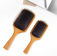 دروبشيبينغ جودة أعلى جودة أفيدا مجداف فرشاة بروس نادي تدليك الشعر مشط منع trichomadesis الشعر كيس مدلك