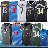2021 جديد 7 كيفن 11 Kyrie durant 13 ايرفينغ هاردن antetokounmpo 34 جيانيس NCAA الرجال كرة السلة الفانيلة