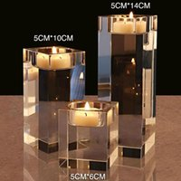 Faux كريستال حاملي شمعة رومانسية، شمعة، زينة الزفاف tealight الشمعدان المنزل الديكور