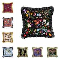 Cuscini di lusso europeo Coprisedili in solido cuscino di tela da imballaggio classico biancheria classica cuscino quadrato copertura del divano cuscini decorativi casi 19 stili