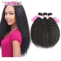 Kinky прямые человеческие волосы плетение бразильские девственные пакеты волос натуральные цветные пучки двойной уток бразильский яки волосы kinky прямой