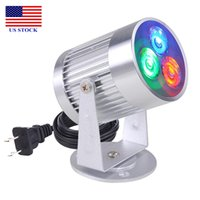 LED Aluminum Spot Light Projector Lamps Magic White/Blue/RGB Lights Disco Party DJ C0032 US STOCK