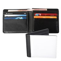2 Styles Sublimation Wallet Money Bag Bank Card Holders PU Leather Blank DIY Multi-Card Portable Travel Essentials