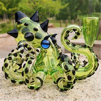 Glass Bong Octopus Dab Rig With 14.4mm Female Joint Hookahs Green Water Pipe