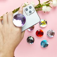 Moda Universal Big Diamond Anillo Plegable Soporte Multifuncional Telescópico Soporte Teléfono Móvil Accesorios