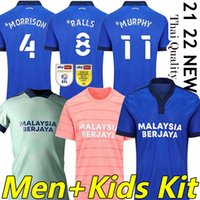 21/22 Cardiff Football Jerseys City Home Away Moore 2021 2022 Camisetas de Fútbol Morrison Ralls Murphy Honett Leandro Bacuna Marlon Pack Hommes + Kit Kit De football Shirts