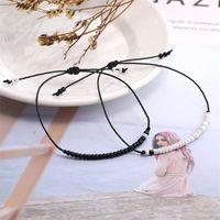 Summer Tyle Graine Perles Bracelet Pour Femmes Noir Blanc Cristal Verre Perle De Perle Tressé Brocelet Bracelet Fashion Bijoux Cadeau 3597 Q2