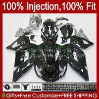 Injection Body For KAWASAKI NINJA ZX 14R 14 R ZZR 1400 CC 2006 2007 2008 2009 2010 2011 4No.132 ZZR1400 ZZR-1400 06-11 ZX-14R ZX14R 06 07 08 09 10 11 OEM Fairing glossy black