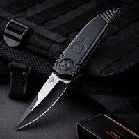 "Asheville Steel Paragon Phoenix Knife Black 3.8"" Two-Tone Satin DE Blade Aeronautical aluminium Handle"