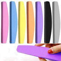 2021 Nuova nail file spugne tampone 100/180 durevole levigatura lavabile smalto per unghie per il gel UV Pedicure Manicure Art Care Tools