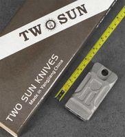 TwoSun Knife Mini Lifesaving Emergency Survival SOS TC4 Ti Titanium Whistle TS24-KS