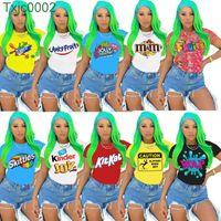 Frauen Designer Kleidung 2021 Neue Mode Lässige Buchstaben Muster Gedruckt Kurzarm T-Shirt Damen Tops