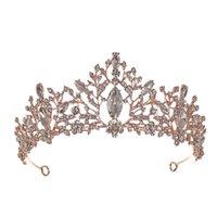 Handmade Gold Gold Bride Princess Tiara Corona per Wedding Women Bride Street Jewelry Accessori per capelli Ornamenti