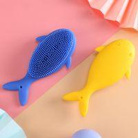 Banyo fırçası masajı karikatür şampuan fırçası bebek cilt bakımı anne ve çocuk banyo fırçası günlük ihtiyaçlar