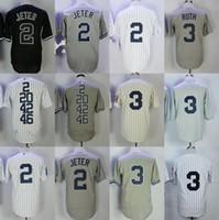 Personalizado homens mulheres juventude personalizado novo lançamento york jersey 3 babe ruth 2 derek jeter yan kee beisebol jersey