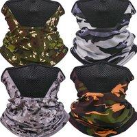 Multi función Cuello de camuflaje Cuello de cuello sin fisuras Facebiel Hombre transpirable Apreciable Máscara Plegable Aire libre Protección de bicicletas 4 5T N2