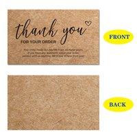 شكرا لك بطاقات طلب منتجات ورق الكرافت الشكر بطاقة تقدير البطاقات شراء إدراجات لدعم عملاء الأعمال الصغيرة 902 B3