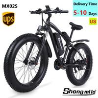 US Shengmilo MX02S 1000W Erwachsene Elektrische Mountainbike 17ah 48V Li-Ion-Stadt Fettreifen Fahrrad 40km / h E-Bike Beach Cruiser