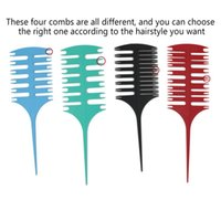 Hair Brushes Factory Plastic Pointed Tail Fish Bone Comb Two-sided Multifunctional Cutting Highlight Weaving Peine De Mechas