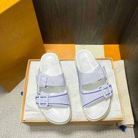 Entrenador mula baloncesto zapatillas para hombre diseñador Dos correas sandalias de cuero genuino al aire libre casual zapatilla lujos de lujo diseñadores ligero flip chancles desgastadas playa
