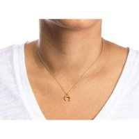 Pendant Necklaces Crescent Horns And Moon Creative Simple Golden Korean Alloy Clavicle Short Necklace Fashionable