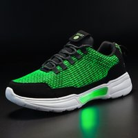 UncleJerry New LED Shoes Fiber Optic Shoes for girls boys men women USB Charging light up shoe for Adult Glowing Running Sneaker 210311