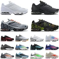 Original Tn Plus 3 Tuned 2 Running Shoes For Man Big Size Us 12 Radiant Red Ghost Green Woman Black White Neon Mens Womens Sports Sneakers Trainers Eur 36-46 Off