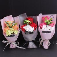 Muttertag Geschenk 3 stücke Seife Rose Blume Blumenstrauß Sets Geburtstag Valentinstag Muttertage Geschenk Für Mädchen FWA3810