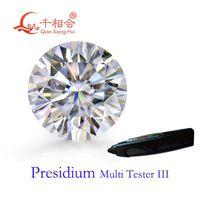 Övriga 5mm till 12mm DF Färg Vit Rundform Brilliant Cut Moissanites Loose Stone Can Pass Presidium 3 Pen