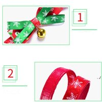 Bowknot Bell Christmas Series Pets Collars Cat Collar Dog Pet Products plus size GWF11038