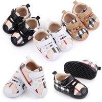 Pasgeboren jongens meisjes eerste wandelaars zachte zool plaid baby schoenen baby's antislip casual schoenen sneakers 0-18months