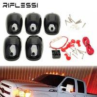 Acil Durum Işıkları 1 Set 9 LED Araba Harici 12 V 24 V Kamyon Römork Pickup Kabin Çatı Üst Sinyal Lambası Amber Beyaz Arabalar için Koşu