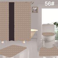 Tasarımcı Trendy Su Geçirmez Duş Perdeleri Ins Klozet Minder Halı Banyosu 4 Parça Set Banyo Aksesuarları