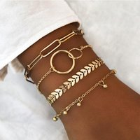 Stapelbares Armband Set für Frauen Multiple Layered Wrap Armreif Armbänder Böhmen Einstellbare Armbänder Schmuck Geschenk