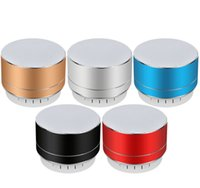 Portable Mini Speaker A10 Bluetooth Speakers Wireless Handsfree with FM TF Card Slot LED Audio Player for MP3 Tablet PC In Package