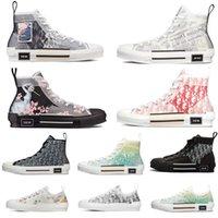 2021 B23 B22 B24 Tasarımcı Sneakers Obliques Teknik Deri 19ss Çiçekler Platformu Açık Rahat Ayakkabılar Eğitmenler Deri Boyutu 36-45 # 55