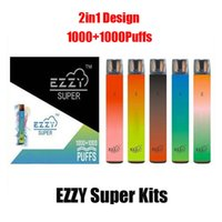 ezzy super 2in1 일회용 전자 담배 장치 키트 2000 퍼프 900mAh 배터리 6.5 프리 쿼리 포드 카트리지 스위치 스틱 vape 펜 대 바 플러스 맥스