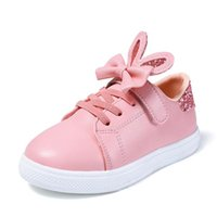 Sneakers 19 Spring Summer Ear Shoes For Girls Tenis Chaussure Enfant Kids Girl Pink Casual Cute Student White