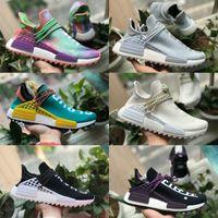Adidas human race nmd Shoes Nmd Boost VENDER 2021 NUEVA RACURA HUMANA NUEVA PHARRELL WILLIAMS HOMBRES HOMBRES RUNNES SPORT SHOEZOS DE DESIGNADOR DE SPORTS NEGROS