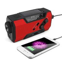 Radio de manivela solar de emergencia Radio Portátil AM / FM / NOAA Radio de alerta de tiempo con LED, Lámpara de lectura 2000mAh Power Bank # 3